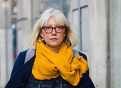 © Licensed to London News Pictures. 28/01/2020. London, UK. Rebecca Burke, a former IT executive at TalkTalk outside the Central London employment tribunal. Ms Burke is suing telecoms giant, TalkTalk under the Equal Pay Act, claiming she earned 40 per cent less than male colleagues doing equivalent work. Rebecca Burke spent two years in senior roles at TalkTalk before she was made redundant in 2017 and her lawyers discovered a large pay and bonus gap during negotiations over her dismissal. Photo credit: Vickie Flores/LNP