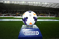 a view of the match ball before k/o.  Barclays Premier league, Swansea city v Crystal Palace match at the Liberty Stadium in Swansea, South Wales on Sunday 2nd March 2014.<br /> pic by Andrew Orchard, Andrew Orchard sports photography.