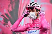 Foto Massimo Paolone/LaPresse <br /> 22 ottobre 2020 Italia<br /> Sport Ciclismo<br /> Giro d'Italia 2020 - edizione 103 - Tappa 18 - Da Pinzolo a Laghi di Cancano (Parco Nazionale Stelvio) (km 207)<br /> Nella foto: João Almeida (Deceuninck - Quick-Step)<br /> <br /> Photo Massimo Paolone/LaPresse<br /> October 22, 2020  Italy  <br /> Sport Cycling<br /> Giro d'Italia 2020 - 103th edition - Stage 18 - From Pinzolo to Laghi di Cancano (Parco Nazionale Stelvio)<br /> In the pic: João Almeida (Deceuninck - Quick-Step)