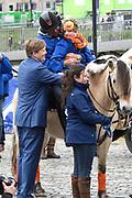 De koninklijke familie is in Zwolle voor de viering van Koningsdag. /// The royal family is in Zwolle for the celebration of King's Day.<br /> <br /> Op de foto / On the photo:  Koning Willem-Alexander / King Willem Alexander