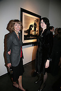 LADY PAULINE SMITH AND LAUREN HASSEY, Helmut Newton XL. Hamiltons. Carlos Place. London. 25 September 2007. -DO NOT ARCHIVE-© Copyright Photograph by Dafydd Jones. 248 Clapham Rd. London SW9 0PZ. Tel 0207 820 0771. www.dafjones.com.