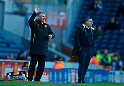 BLACKBURN, ENGLAND - Saturday, January 6, 2018: Hull City's manager Nigel Adkins and Blackburn Rovers' manager Tony Mowbray during the FA Cup 3rd Round match between Blackburn Rovers FC and Hull City FC at Ewood Park. (Pic by David Rawcliffe/Propaganda)