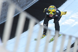 March 22, 2019 - Planica, Slovenia - Noriaki Kasai of Japan seen in action during the trial round of the FIS Ski Jumping World Cup Flying Hill Individual competition in Planica. (Credit Image: © Milos Vujinovic/SOPA Images via ZUMA Wire)