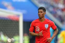 July 14, 2018 - Saint Petersburg, Russia - Marcus Rashford of the England national football team reacts during the 2018 FIFA World Cup Russia 3rd Place Playoff match between Belgium and England at Saint Petersburg Stadium on July 14, 2018 in St. Petersburg, Russia. (Credit Image: © Igor Russak/NurPhoto via ZUMA Press)
