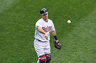 Joe Mauer #7 of the Minnesota Twins warms up before a game against the Philadelphia Phillies on June 11, 2013 at Target Field in Minneapolis, Minnesota.  The Twins defeated the Phillies 3 to 2.  Photo: Ben Krause