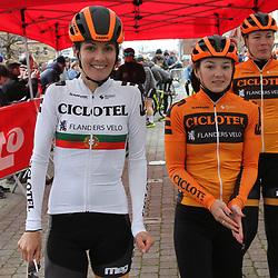 03-03-2020: Wielrennen: GP Le Samyn: vrouwen: Dour:Daniela Reis: Bryony van Velzen