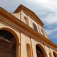 Central America, Cuba, Trinidad. Church of the Holy Trinity, Trinidad, Cuba.