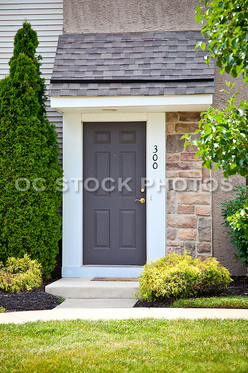 Apartment Front Door Entry Stock Photo