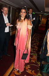 Actress POOJA SHAH at the 10th Anniversary Asian Business Awards 2006 at the London Grosvenor Hotel Park Lane, London on 19th April 2006.<br /><br />NON EXCLUSIVE - WORLD RIGHTS
