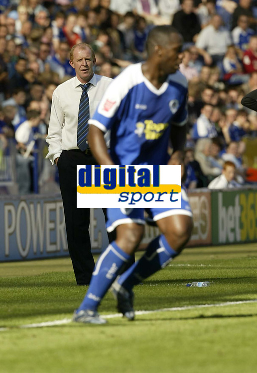 Photo: Aidan Ellis.<br /> Leicester City v Queens Park Rangers. Coca Cola Championship. 15/09/2007.<br /> Leicester's Gary Megson watches his team