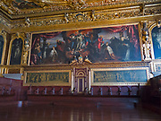 The Dead Christ Adored painting by Tintoretto in the Senate chamber of the Palazzo Ducale, Venice, Italy