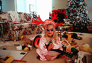 Christmas in America- Emily Griesedieck wakes up to a roomful of gifts on CHristmas morning in Menlo Park, CA