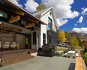 A home in Telluride, Colorado. The entire side of this home extends out into the landscape.
