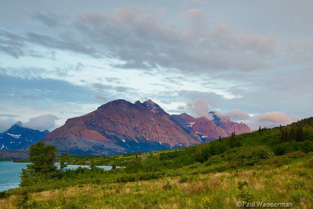 Sunrise along the east end of Going to the Sun Road, Glacier National Park, Wyoming