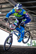 #137 (BOUDET Mathias) FRA at Round 5 of the 2019 UCI BMX Supercross World Cup in Saint-Quentin-En-Yvelines, France