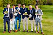 17-05-2015 NGF Competitie 2015, Hoofdklasse Heren - Dames Standaard - Finale, Golfsocieteit De Lage Vuursche, Den Dolder, Nederland. 17 mei. Heren RESERVE Eindhovensche 3: Team tijdens de prijsuitreiking.