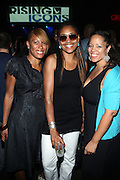 l to r: Toni Ann Jordan, Yvette Russell Ena Renee at ' Rising Icons ' featuring The Dream presented by Grey Goose, Complex Magazine & BET held at The Hiro Ballroom on July 30, 2009 in New York City