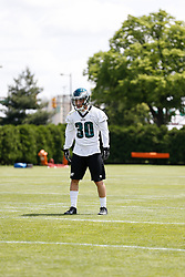 Philadelphia Eagles safety Ed Reynolds #30 during the NFL football rookie camp at the teams practice facility on Saturday, May 17, 2014. (Photo by Brian Garfinkel)