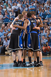 06 February 2008: Duke Blue Devils guard Greg Paulus (3) and guard Nolan Smith (2) during a 89-78 win over the North Carolina Tar Heels at the Dean Smith Center in Chapel Hill, NC.