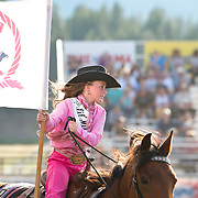 Darby Rodeo Association Lil Miss Addison at the Darby Rodeo Association Elite Bull Connection event July 5th 2019.  Photo by Josh Homer/Burning Ember Photography.  Photo credit must be given on all uses.