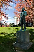 Monument of man and part of Washington and Lee University in background. Lexington. North Carolina. United States of America.