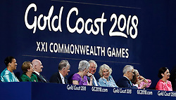 The Prince of Wales and the Duchess of Cornwall sit together in the stands during the Opening Ceremony for the 2018 Commonwealth Games at the Carrara Stadium in the Gold Coast, Australia.