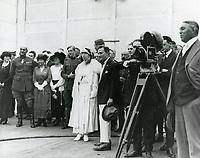 1919 Thomas Ince and Queen Elizabeth of Belgium at Ince Studios in Culver City