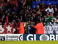 Photo: Jed Wee.<br /> Bolton Wanderers v Sevilla. UEFA Cup. 14/12/2005.<br /> <br /> Sevilla players ran to their fans after their equaliser.