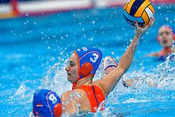 Dagmar Genee #3 of Netherlandsduring the semi final Netherlands vs Russia on LEN European Aquatics Waterpolo January 23, 2020 in Duna Arena in Budapest, Hungary