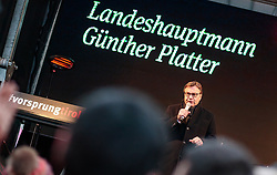23.02.2018, Maria Theresienstraße, Innsbruck, AUT, Landtagswahl in Tirol 2018, OeVP Wahlkampfschlussveranstaltung, im Bild Spitzenkandidat Guenther Platter (OeVP) // during a campaign event of the OeVP Party for the State election in Tyrol 2018. Maria Theresienstraße in Innsbruck, Austria on 2018/02/23. EXPA Pictures © 2018, PhotoCredit: EXPA/ JFK
