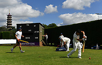 Cricket - 2020 summer - Friendly - Richmond 1st XI vs Richmond 2nd XI<br /> <br /> A general view as recreational cricket gets under way, at Old Deer Park Sports Ground.<br /> <br /> COLORSPORT/ASHLEY WESTERN