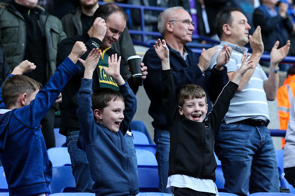 Bolton Wanderers' supporters celebrate their side's second goal<br /> <br /> Photographer Andrew Kearns/CameraSport<br /> <br /> The EFL Sky Bet Championship - Bolton Wanderers v Sheffield Wednesday - Saturday 14th October 2017 - Macron Stadium - Bolton<br /> <br /> World Copyright © 2017 CameraSport. All rights reserved. 43 Linden Ave. Countesthorpe. Leicester. England. LE8 5PG - Tel: +44 (0) 116 277 4147 - admin@camerasport.com - www.camerasport.com