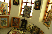 Feb. 17, 2016 - Rhodope, Bulgaria -<br /> The village where faith is more powerful than anything else<br /> <br />  Twenty-seven chapels and three luminous crosses watch over the Rhodope village of Momchilovtsi. It is one of the very few villages in the Rhodope mountain populated with Chritians only. There are chapels built on every hill round the place and it is believed that the Saints, whom the chapels were named after, protect them from troubles and disasters. These chapels were built with the help of the volunteers and the charity from the local people. The first one was built in 1989 and it was named '' St. Mina'' . Some new chapels were built up after that and soon this became a tradition for the local villagers. Momchilovtsi is famous for its hill Ayazmo. A lot of miracles have happened in this place over the years. They were all due to the effect of the blessed spring water running in the chapel Ayazmo. A dumb child got to speak after its visit to the Ayazmo hill, people with skin and eye problems have been cured as well. The local people are very proud of the healing property of the village stream on February 17, 2016  ©Exclusivepix Media