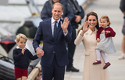 File photo dated 01/10/16 of the Duke and Duchess of Cambridge, Prince George and Princess Charlotte. The Duke and Duchess of Cambridge will celebrate their daughter Princess Charlotte's second birthday on Tuesday.