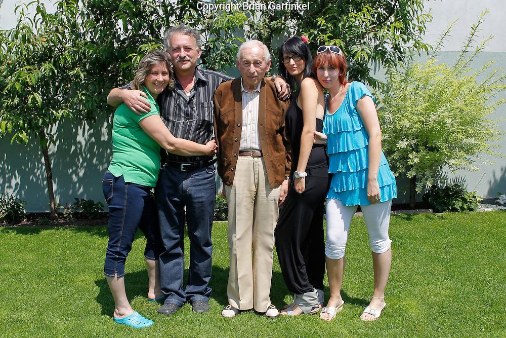 Elena, Pater, Palo, Eva, and Martina at Peter's house in Zilina, Slovakia on Thursday, July 7th 2011.  (Photo by Brian Garfinkel)
