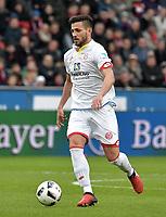 Danny Latza (Mainz)<br /> Leverkusen, 25.02.2017, Fussball Bundesliga, Bayer 04 Leverkusen - 1. FSV Mainz 05 0:2<br /> <br /> Norway only