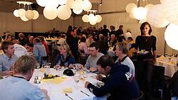 Dinner in the hospitality marquee. St Moritz Match Race 2010. World Match Racing Tour. St Moritz, Switzerland. 2nd September 2010. Photo: Ian Roman/WMRT.