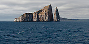 Kicker Rock, a lava cone now split in two, colse to the island of San Cristóbal, Galapagos.