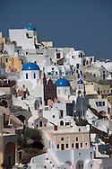 Oia Santorin on the island of Santorini.  Photograph by Dennis Brack