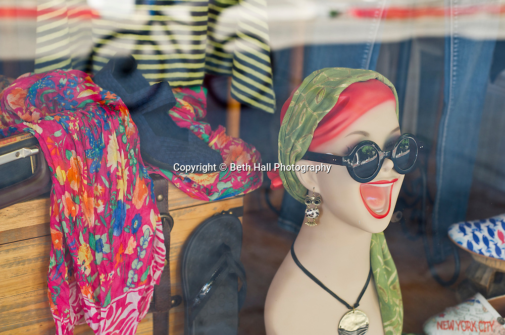 Stock photography of a humorous store front in Eureka Springs, Arkansas.