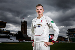 Michael Leask of Somerset Cricket poses during a portrait session - Mandatory byline: Rogan Thomson/JMP - 08/04/2016 - CRICKET - The County Ground - Taunton, England - Somerset County Cricket Club Media Day.