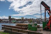 Henley on Thames. United Kingdom.   2018 Henley Royal Regatta, Henley Reach. <br />   <br /> Course Construction<br /> <br /> Wednesday  25/04/2018<br /> <br /> [Mandatory Credit: Peter SPURRIER:Intersport Images]<br /> <br /> LEICA CAMERA AG  LEICA Q (Typ 116)  f5.6  1/1600sec  35mm  42.6MB