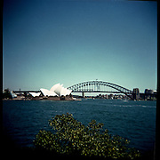 Picture taken with a Holga. Sydney opera House.