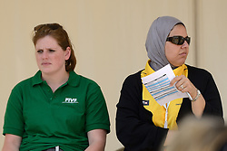 16-07-2014 NED: FIVB Grand Slam Beach Volleybal, Apeldoorn<br /> Poule fase groep G vrouwen - FIVB official, crew, referee delegate