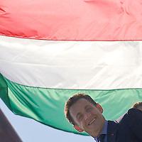 French president Nicolas Sarkozy visits Hungary.