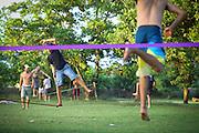 Slack rope training
