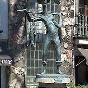 Fisherman sculpture. Puerto Vallarta, Jalisco. Mexico.