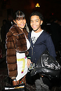 l to r: Misa Hylton and Justin Combs at The 2009 Fall Baby Phat Fashion Show held at Gotham Hall on February 17, 2009 in New York City.