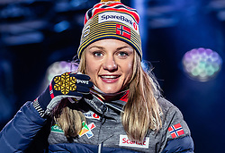 22.02.2019, Medal Plaza, Seefeld, AUT, FIS Weltmeisterschaften Ski Nordisch, Seefeld 2019, Langlauf, Damen, Sprint, Siegerehrung, im Bild Weltmeisterin und Goldmedaillengewinnerin Maiken Caspersen Falla (NOR) // World champion and gold medalist Maiken Caspersen Falla of Norway during the winner Ceremony for theCross Country, Ladie's Sprint of FIS Nordic Ski World Championships 2019 at the Medal Plaza in Seefeld, Austria on 2019/02/22. EXPA Pictures © 2019, PhotoCredit: EXPA/ Dominik Angerer