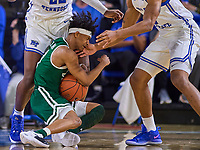 during the UAB Blazers at Middle Tennessee Blue Raiders college basketball game in Murfreesboro, Tennessee, Saturday, February, 15, 2020. Middle lost 79-66.<br /> Photo: Harrison McClary/All Tenn Sports